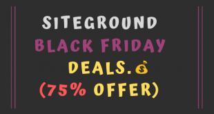 Siteground black friday deals 2020