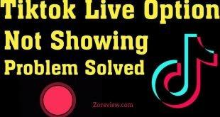 tiktok live option solved